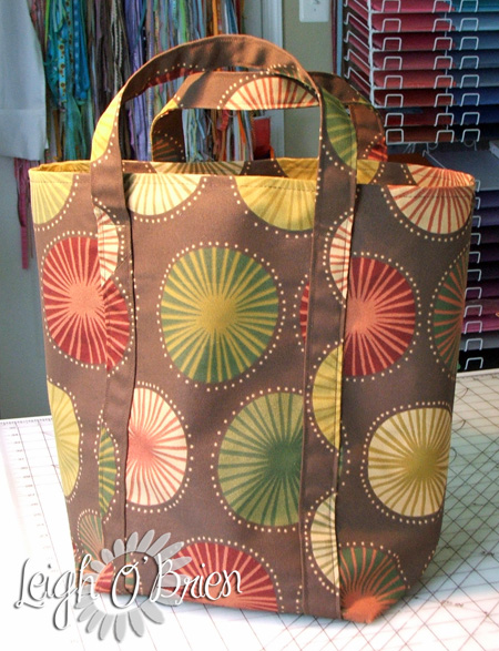 Shopping Bag_pattern 2_brown