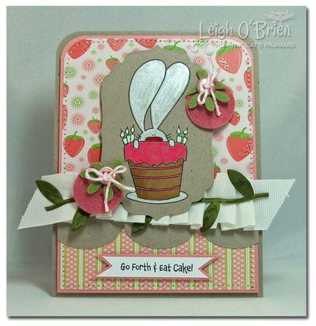 Eat Strawberry Cake_framed